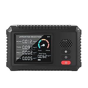 Sunydog Moniteur de qualité de l'air Détecteur de formaldéhyde Testeur TVOC PM2.5/PM10 Détecteur Multifonctionnel de gaz d'air des données en Temps réel Détection Intelligente en Temps réel pour