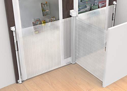 Callowesse © Omni Barrera de Seguridad Extensible para Puertas y Escaleras, para bebés y mascotas, apertura multidireccional de 0-140 cm, mecanismo seguro de doble bloqueo, espaciadores incl.