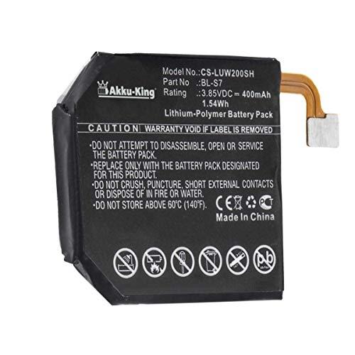 Akku-King Akku kompatibel mit LG BL-S7 - Li-Polymer 400mAh - für Watch Urbane 2nd Edition LTE, W200, W280, W280A