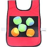 Umora キャッチボール ダーツボール 子供用 両面用 ストレス解消 屋内 屋外 スポーツ アウトドア ボール5個付き レッド