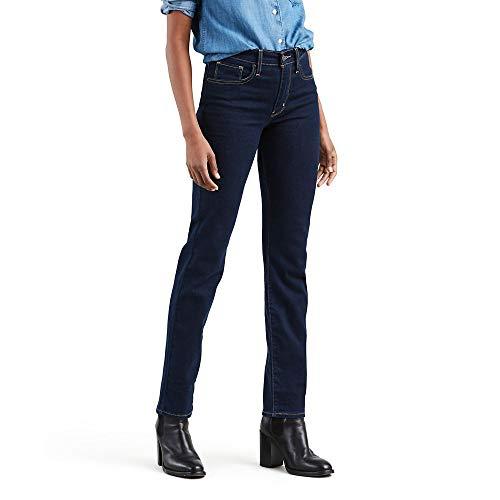 Levi's 724 - Pantalones vaqueros rectos altos para mujer - Azul - 30 (US 10) R