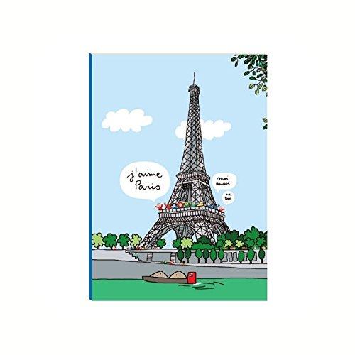 Grand cahier à rabats Tour Eiffel - Petit Jour Paris