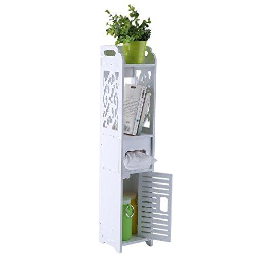 Krispich Regal Badezimmer Bodenständer Holz-Kunststoff Lagerschrank Organizer