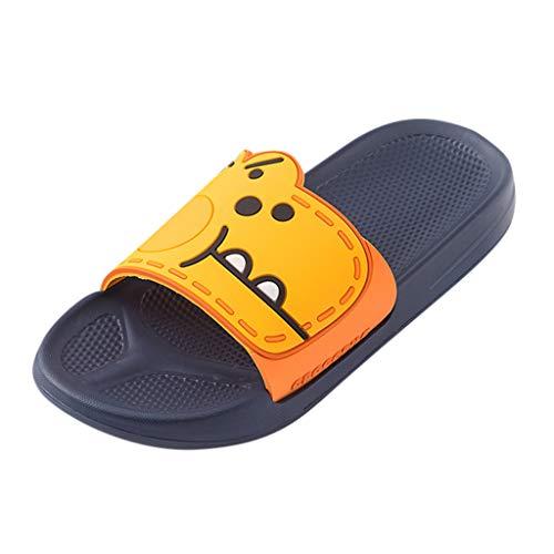 KERULA Hausschuhe Herren Sommer Cartoon Kuschelig Breathable Antirutsch Fußbetteinlagen Langlebig Gästehausschuhe Sandalen Schuhe mit Rutschfester Gummisohle für Drinnen und Outdoor