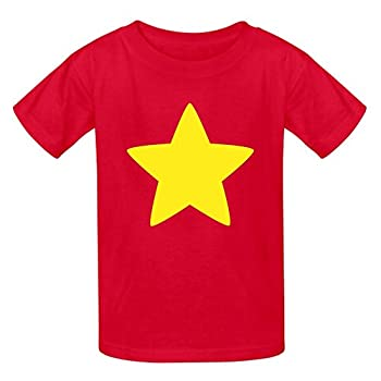 Youth Boys and Girls Vintage Normal Fit Steven Universe Star T-Shirt Red