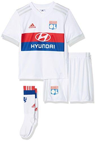 adidas Kinder Olympique Lyon Mini-heimausrüstung, White/Colred/Croyal/C, 98