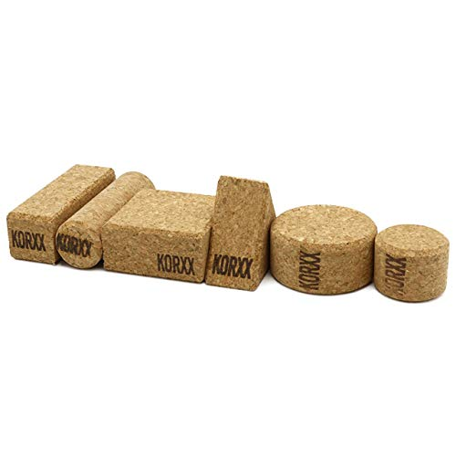 KORXX Form Starter 21 Bausteine aus Kork, naturbraun