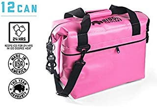 BISON COOLERS Soft Sided Insulated 12 Can Cooler Bag   Tear Proof Ice Chest for Beverages or Food   Includes 2 Year Warranty   Made in The USA