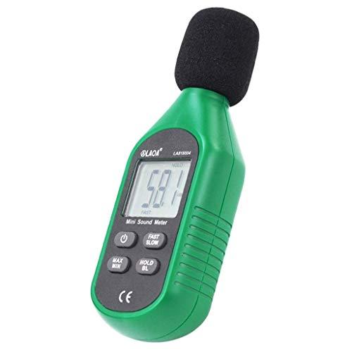 WSMLA Audio en Direct Moniteur Audio vumètre écran LCD numérique Détecteur Compteur de Bruit Décibel Testeur Bruit Bruit Compteur Sonomètre L'utilisation ABS Matériel Scanners et testeurs