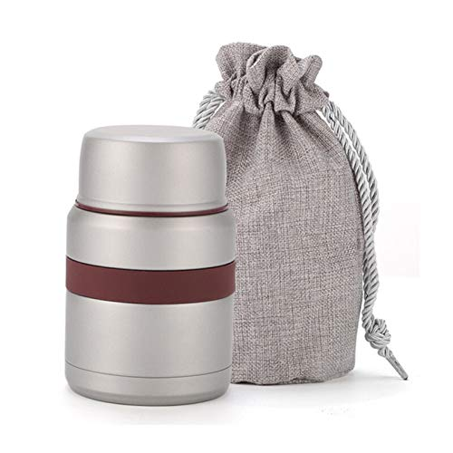 JDJD Frasco de Comida Termos 4 Colores De Acero Inoxidable For Alimentos Calientes 350 Ml Taza Termo con Contenedores Mini Caja De Almuerzo del Termo Termos Alimentos Frascos (Color : Light Grey)