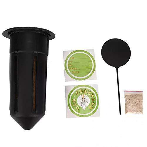 Andifany Caja de Cebo para Termitas Al Aire Libre Cazador Asesino de Termitas Caja de AtraccióN de Hormigas Blancas Caja de Cebo para Termitas EstacióN de JardíN