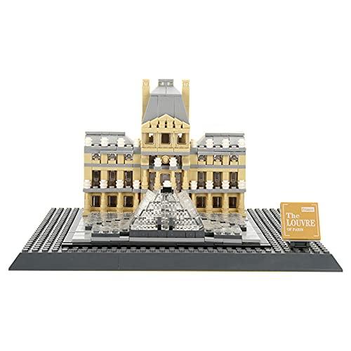 Sungvool Weltberühmte Architektursammlung: Louvre-Bausteinmodell, pädagogisches Spielzeug und Geschenk für Kinder und Erwachsene, kompatibel mit Lego-Architektur (785 Teile)