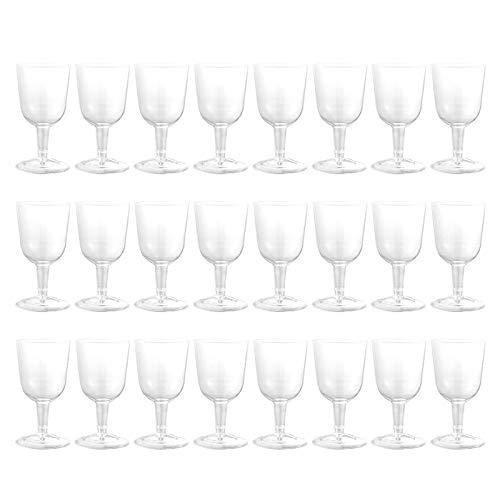 AGAN 24pcs Tasses jetables Cocktail Verres à vin Champagne jus Boisson Coupes de Stockage pour soirée de Mariage Fournitures de banquets