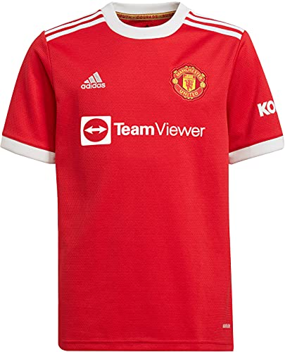 adidas Youth 2021-22 Manchester United Home Jersey (Real Red, Large)
