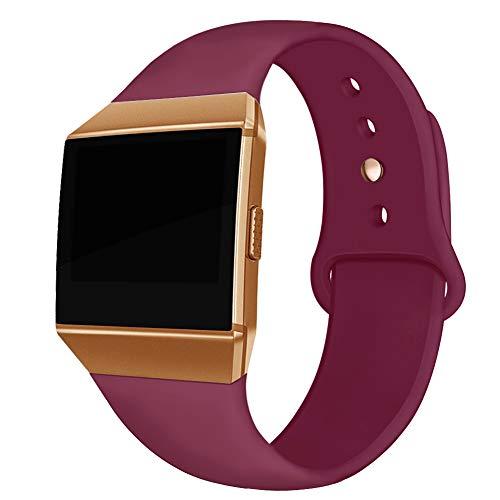 Kmasic Compatible Fitbit Ionic Correas, Correa Deportiva de Silicona Suave Reemplazo Transpirable Pulseras para Fitbit Ionic Smart Watch, Mujer Hombre, Grande Pequeña
