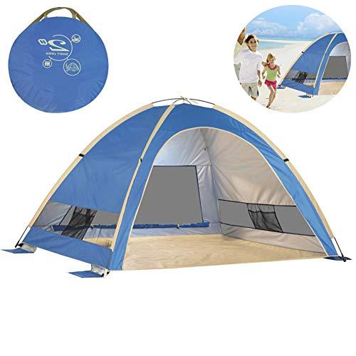 LKIHAH Beach Camping Dome Tent - Strand Tent Outdoor Automatische 2-3 Person Speed Vissen Zonnebrandcrème Winddicht En Regendicht Strand Vissen Tent