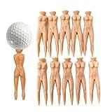 VORCOOL 10piezas 70mm Nude Lady estilo Golf Tee verde paso horquilla Divot herramienta (color de la piel)