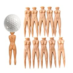Color: Skin color. Material: ABS plastic. Size: 7 * 1cm / 2.76 * 0.39 inch. Novetly design in nude lady shape. Multi-functional: Golf tee + ball marker + green pitch fork divot tool. Used for supporting and blocking up the golf so as to keep the bala...
