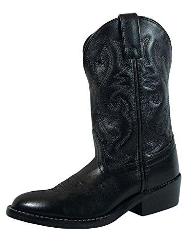 Smoky+Children%27s+Kid%27s+Black+Leather+Western+Cowboy+Boot