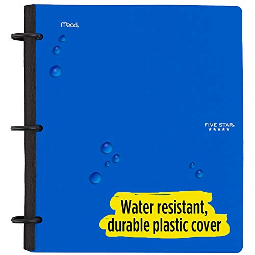 Five Star Flex Hybrid NoteBinder, 1-1/2 Inch Binder with Tabs, Notebook and 3 Ring Binder All-in-One, Blue (72405) Photo #3