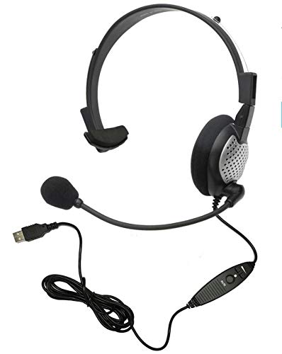 Voice Recognition USB Headset with Noise Cancelling Boom Microphone...