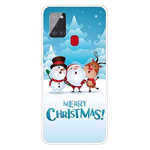 Keteen Funda para Samsung A21S, Navidad Dibujos Diseño Cover Suave TPU Transparente Ultrafino Silicona Bumper...
