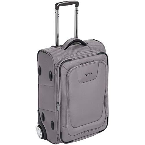 AmazonBasics Expandable Softside Carry-On Luggage Suitcase With TSA Lock And Wheels - 24 Inch, Grey