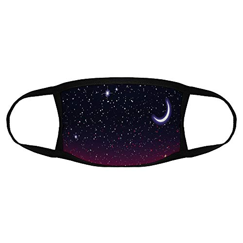 Roupaze Child Face Mask Night Red Sky at Night with Starry Landscape and...