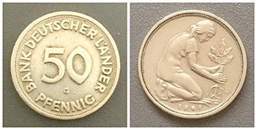 – Deutschland (1949) 50 Pfennig, Bank Deutscher Länder Prägezeichen G