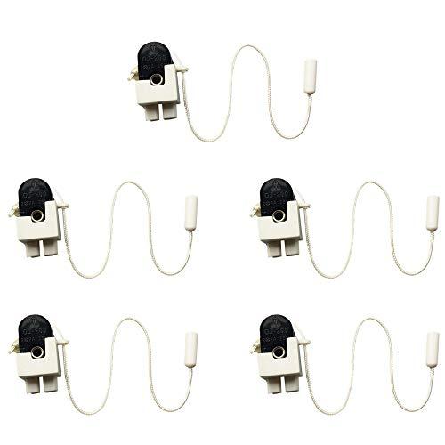 5 Pcs Mini Interruptores con Cuerda,Side Action Mini Pull Cord Switch,BañO Interruptor de Techo Cable de TraccióN,Se Puede Utilizar para Ventiladores de Techo, Interruptores de Luz de Pared