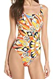 Tory Burch Swimwear Kaleidoscope Tank Suit Sweet Tangerine SM (Women's 4-6)