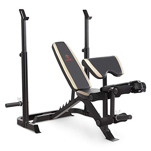 Marcy Adjustable Olympic Weight Bench with Leg Developer and Squat...