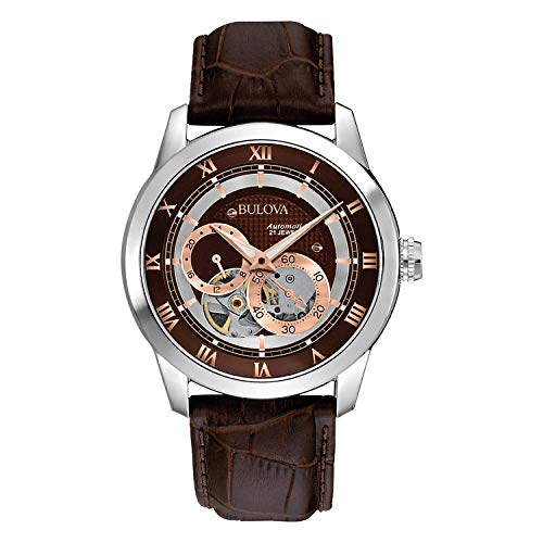Bulova Men's Brown 96A120 BVA Series Dual Aperture Dial...