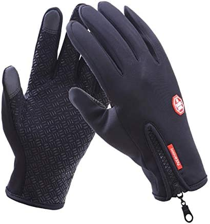 New 2018 Winter Thicken Gloves Male Warm Quality Mitten Autumn Winter Solid Women High Business Cloth Snow Gloves - (Color: D-B02 Black, Gloves Size: S)