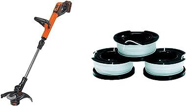 BLACK+DECKER STC1820PC-GB Cordless 28 cm String Grass Trimmer 2.0Ah Lithium Ion Battery, Orange & Black + Decker A6485 thr...