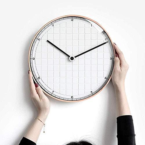 Reloj de pared moderno minimalista, reloj de pared para sala de estar, moderno y silencioso, redondo, para colgar en la mesa del restaurante, 30 cm x 30 cm x 4,3 cm (color: blanco)