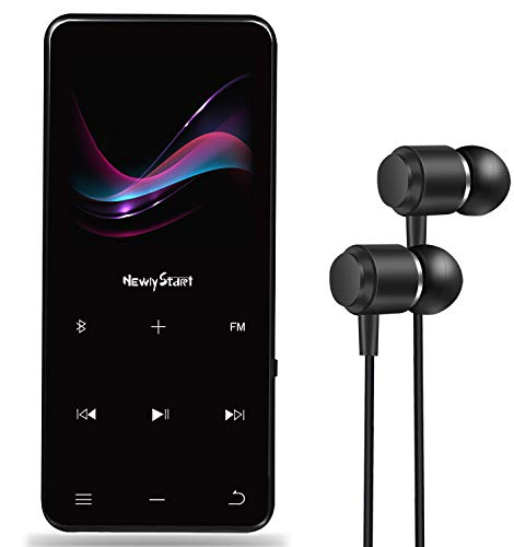 【NewiyStart】mp3プレーヤーBluetooth5.0対応合金製超軽量無損音質デジタルオーディオプレーヤーsdカード対応8GB内蔵容量最大128GBまで拡張可能ポータブルプレーヤーFMラジオ歩数計Line-inRecordダイレクト録音対応[最新版】