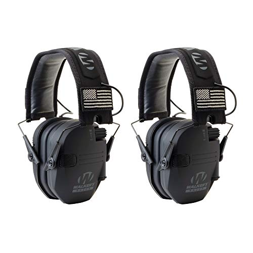Walkers GWPRSEMPAT Razor Patriot Electronic Earmuff 23 dB Black - 2 Pack