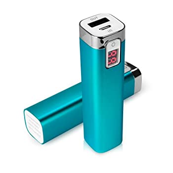 Charger for iPhone 5c  Charger by BoxWave  - Rejuva Power Pack 2600 mAh Compact Portable Power Bank Charger for iPhone 5c Apple iPhone 5c - Sky Blue