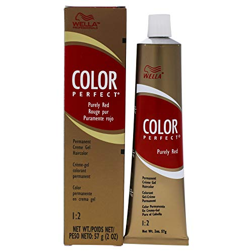 Wella Color Perfect Permanent Creme Gel Haircolor - 6rr Level 6 Pure Red By for Unisex - 2 Ounce Hair Color, 2 Ounce