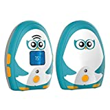 TimeFlys Audio Baby Monitor Mustang Vibration Two Way Talk LCD Display Temperature Monitoring