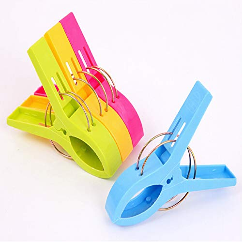 8 Pcs Beach Towel Clips, Quilt Clip Large Towel Clips and Multipurpose Towel Clip Keep Towel from Blowing Away for Sunbeds Sun Loungers Pool Chairs Laundry and More