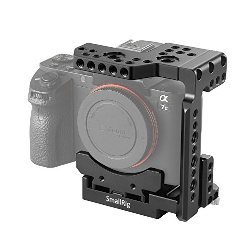 SMALLRIG Quick Release Half Cage for Sony A7R III/A7 III/A7 II/A7R II/A7S II, QR Plate for Manfrotto 501PL System - 2098