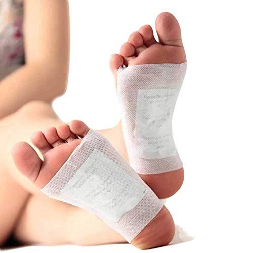 Detox Fußpflaster - Qualitativ hochwertige Fusspflaster zur Entgiftung, Vitalpflaster | Bambus Pflaster Wellness-Detox Kur Toxine Spa, Vegan und natürliche Inhaltsstoffe | 20pcs