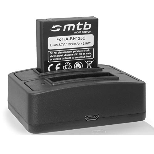 Batteria + Caricabatteria doppio (USB) per Pentax MX-1, X90 / Ricoh GR, GR II, Caplio R3, R4, R5, GX100 / WG-M1 / Sigma DP3 Merril. - v. lista