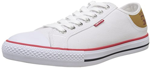 LEVIS FOOTWEAR AND ACCESSORIES Stan Buck, Bajos para Hombre, Blanco (Blanc), 43 EU