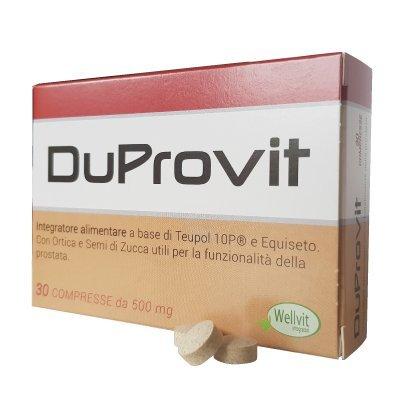 DUPROVIT Integratore Alimentare per la Prostata Ingrossata Utile per il Benessere della Prostata Con ingredienti Naturali Prodotto in Italia