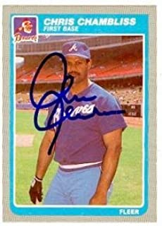 Chris Chambliss autographed baseball card (Atlanta Braves) 1985 Fleer #322 - Autographed Baseball Cards
