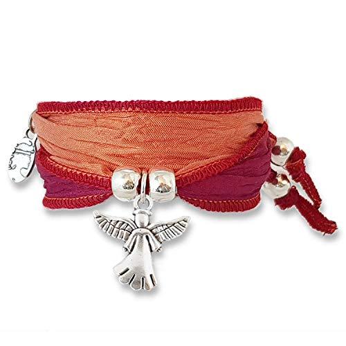 Anisch de la Cara - Donne Braccialetto - Red Coral - Little Angel Symbolarmband - Articolo n 90111-a
