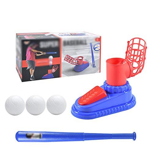 BAFEYU Kinder Tennis Outdoor Spielzeug Baseball Automatische Ballmaschine Outdoor Baseball Pitching Machine Set für Kinder